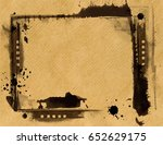grunge frame or distressed... | Shutterstock .eps vector #652629175