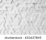 abstract triangle pattern. 3d... | Shutterstock . vector #652637845