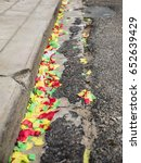 rest of confetti on the street... | Shutterstock . vector #652639429