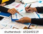 group of businesspeople working ... | Shutterstock . vector #652640119