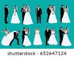 two color set of a groom and... | Shutterstock .eps vector #652647124