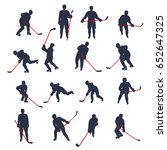 hockey colored set | Shutterstock .eps vector #652647325