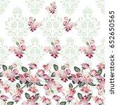 blooming sakura pattern. floral ... | Shutterstock .eps vector #652650565
