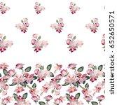 spring blossom in japanese... | Shutterstock .eps vector #652650571