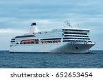 white cruise liner. passenger...   Shutterstock . vector #652653454