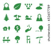 tree icons set. set of 16 tree... | Shutterstock .eps vector #652657789