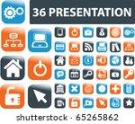 36 presentation buttons. vector | Shutterstock .eps vector #65265862