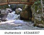waterfalls under a bridge  | Shutterstock . vector #652668307