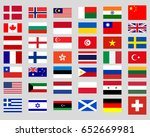 collection of flags of the world | Shutterstock .eps vector #652669981