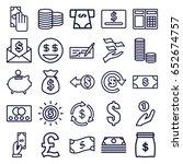 cash icons set. set of 25 cash...   Shutterstock .eps vector #652674757