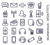contact icons set. set of 25... | Shutterstock .eps vector #652677571