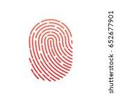 fingerprint icon | Shutterstock .eps vector #652677901