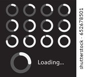 circular loading sign  isolated ... | Shutterstock .eps vector #652678501