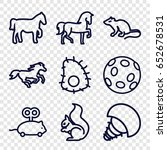 tail icons set. set of 9 tail... | Shutterstock .eps vector #652678531