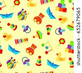 colorful pattern with different ... | Shutterstock .eps vector #652679065
