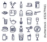 drink icons set. set of 25... | Shutterstock .eps vector #652679461