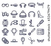 accessory icons set. set of 25... | Shutterstock .eps vector #652679479