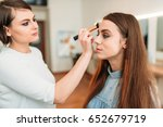 professional beautician work... | Shutterstock . vector #652679719