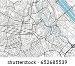 white and black vector city map ... | Shutterstock .eps vector #652685539
