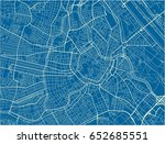blue and white vector city map... | Shutterstock .eps vector #652685551