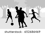 boys are playing football   ... | Shutterstock .eps vector #652686469