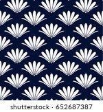 blue flower seamless pattern ... | Shutterstock .eps vector #652687387