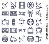 television icons set. set of 25 ... | Shutterstock .eps vector #652688671