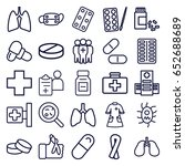 illness icons set. set of 25... | Shutterstock .eps vector #652688689