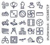toy icons set. set of 25 toy... | Shutterstock .eps vector #652688719