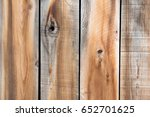 weathered boards of a cedar... | Shutterstock . vector #652701625