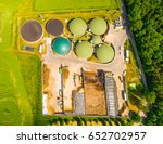 aerial view over biogas plant... | Shutterstock . vector #652702957