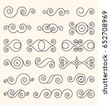 big set of decorative vector... | Shutterstock .eps vector #652708969