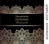 floral invitation card or... | Shutterstock .eps vector #652716829