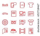 blank icons set. set of 16... | Shutterstock .eps vector #652718467