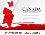 first of july canada day ... | Shutterstock .eps vector #652720051