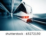 motion blurred public rapid... | Shutterstock . vector #65272150