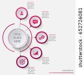 circular infographics... | Shutterstock .eps vector #652726081