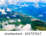 view from airplane above haiti...   Shutterstock . vector #652727017