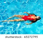 beauty swimming bikini | Shutterstock . vector #65272795