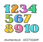 Colored Numbers With Black...