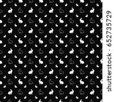 black and white vector seamless ... | Shutterstock .eps vector #652735729