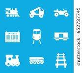 train icons set. set of 9 train ...   Shutterstock .eps vector #652737745