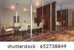 glass meeting room. 3d... | Shutterstock . vector #652738849