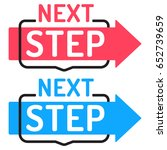 next step. two badges with... | Shutterstock .eps vector #652739659