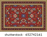 colorful oriental mosaic rug... | Shutterstock .eps vector #652742161