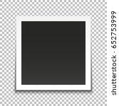 realistic vector photo frame.... | Shutterstock .eps vector #652753999