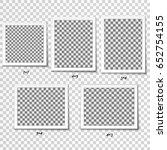 set of retro realistic vector... | Shutterstock .eps vector #652754155