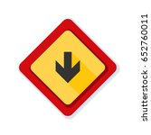 down arrow sign illustration