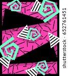 vibrant memphis style banner ... | Shutterstock . vector #652761451