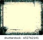 grunge frame or distressed...   Shutterstock .eps vector #652762141
